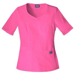 Halat Medical Novelty Neck Top Shocking Pink
