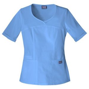 Halat Medical Novelty Neck Top Ciel