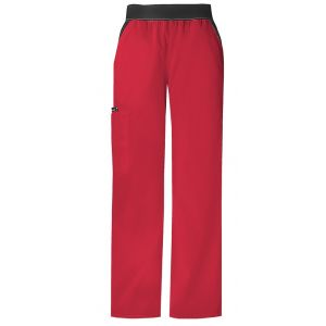 Pantaloni Cargo Pocket in Red