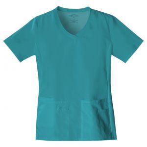 Halat V-Neck in Teal Blue