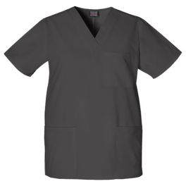 Halat medical unisex V-Neck in Black