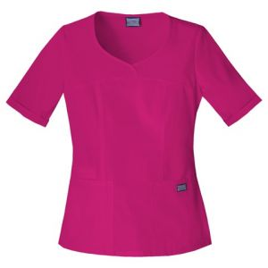 Halat medical Novelty V-Neck in Raspberry