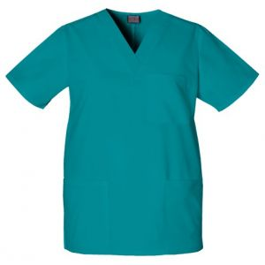 Halat medical unisex V-Neck in Teal Blue