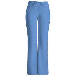 Pantaloni cu talie joasa Drawstring in Ciel