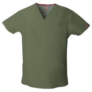 Halat medical V-Neck in Olive
