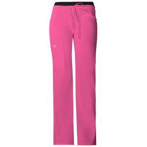 Pantaloni cu talie joasa Drawstring Cargo in Pink