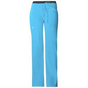 Pantaloni cu talie joasa Drawstring Cargo in Turcoise