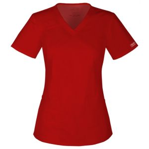 Halat medical V-Neck in Red