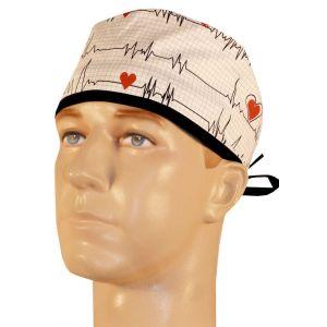 Boneta chirurgicala Heartbeats on White