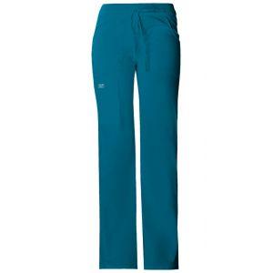 Pantaloni cu talie joasa Drawstring in Caribbean Blue