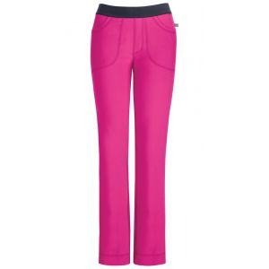 Pantaloni antimicrobieni cu talie joasa slim Carmine Pink