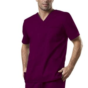 Halat medical V-Neck Wine
