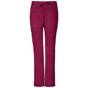 Pantaloni medicali de dama cu talie joasa slim Wine