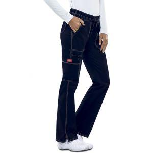 Pantaloni dama cu talie joasa slim Navy