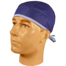 Boneta chirurgicala albastra cu margine ciel