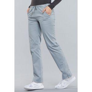 Pantaloni medicali slim cu talie medie Grey
