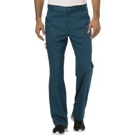 Pantaloni medicali barbatesti flexibili Caribbean Blue