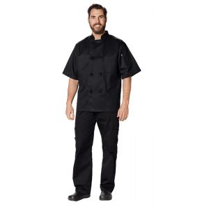Classic Knot Button Chef Coat S/S