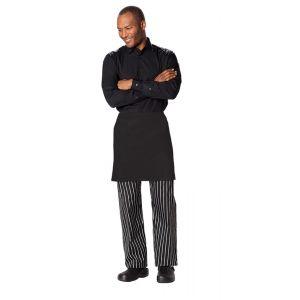 Half Bistro Waist Apron with 2 Pockets in Black