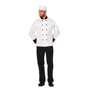 Elastic Chef Beanie in White