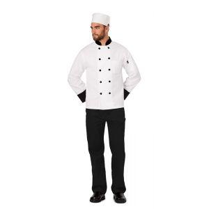 Elastic Chef Beanie in White