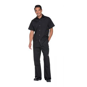 Unisex Poplin Cook Shirt in Black
