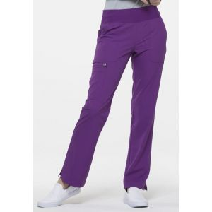 Pantaloni medicali drepti cu talie medie Aubergine