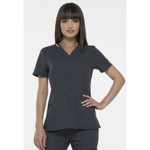 Halat medical ELLE Simply Polished V-Neck in Pewter