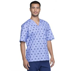 Halat medical barbatesc V-Neck Anchor's Away