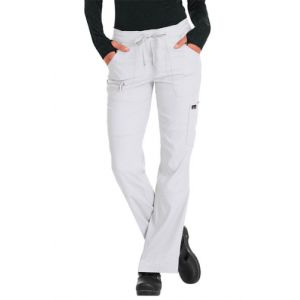 Pantaloni Medicali Stretch Koi Happiness Peace White
