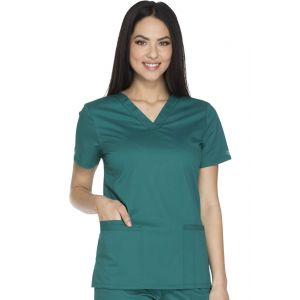 Halat medical V-Neck Core Stretch in Hunter Green