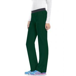 Pantaloni antimicrobieni cu talie joasa slim Hunter green