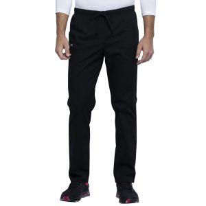 Pantaloni medicali unisex cu elastic si siret Black