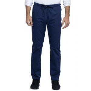Pantaloni medicali unisex cu elastic si siret Navy