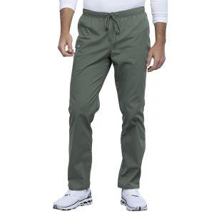 Pantaloni medicali unisex cu elastic si siret Olive