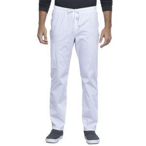 Pantaloni medicali unisex drepti White