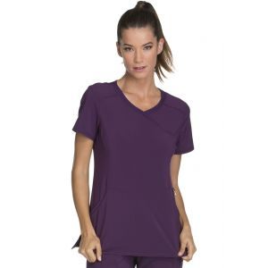 Halat medical antimicrobian Mock Wrap in Eggplant