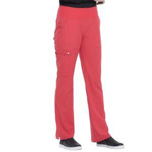 Pantaloni medicali Elle cu talie medie Solar Flare