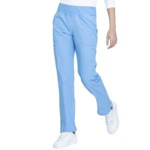 Pantaloni medicali drepti cu talie medie Bleu