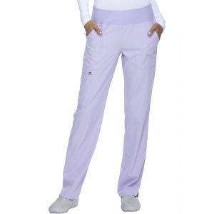 Pantaloni Medicali Drepti Cu Talie Medie in Lilac Sand