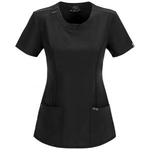 Halat Medical Antimicrobian Round Neck Black