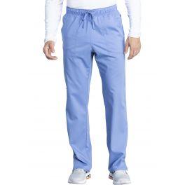 Pantaloni medicali unisex antimicrobieni cu barierea fluida Ciel Blue