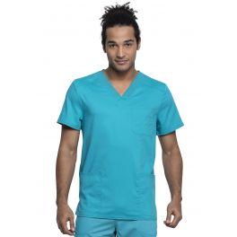 Halat Medical Barbatesc Antimicrobian Cu Bariera Fluida Teal Blue