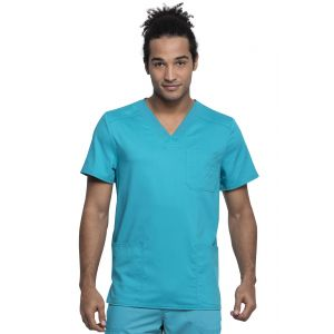 Halat Medical Barbatesc Antimicrobian Cu Bariera Fluida Teal Blue