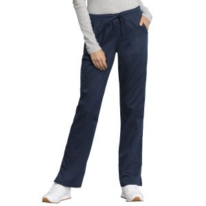 Pantaloni Antimicrobieni Drepti Cu Talie Medie Navy